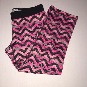 Pink chevron leggings